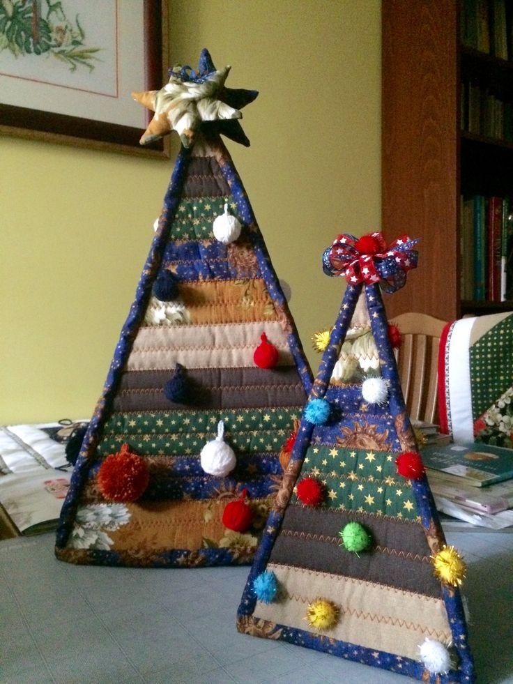 Quzzart. Beata Wieluńska.My Christmas quilts decorations