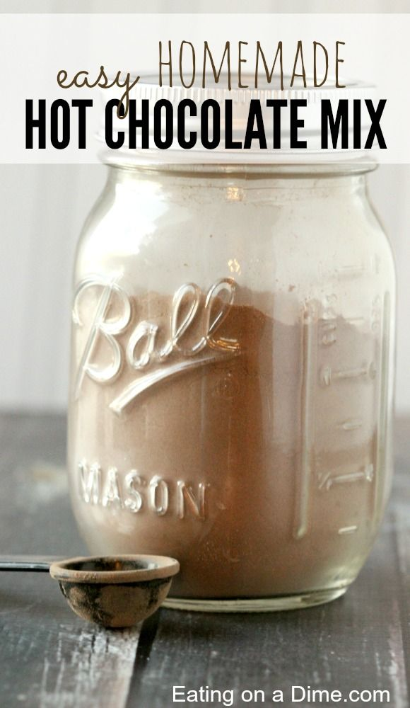 **Try this Easy Homemade Hot Chocolate Mix - it tastes amazing and will save you about 50% off from buying it in the store.
