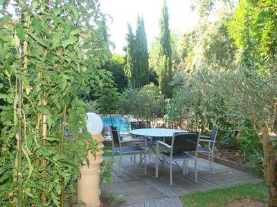 Jardin des chambres d'hôtes à vendre en centre Bergerac en Dordogne