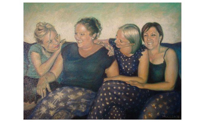 Katy, Sarah, Sally and Camille 40 x 30cm