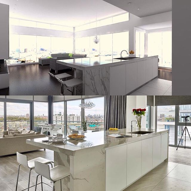 always satisfying to see how accurate the 3d computer visuals that we provide our clients with penthousescomputersworkshopkitchens