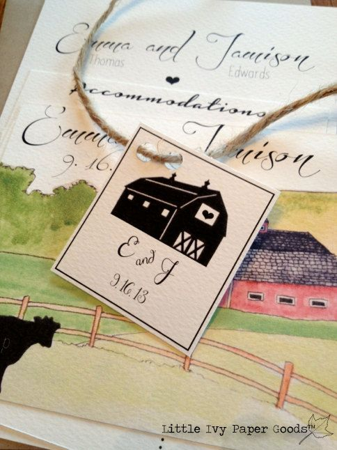 Barn Wedding Invitations Rustic Wedding Invitations Farm Wedding Invitations