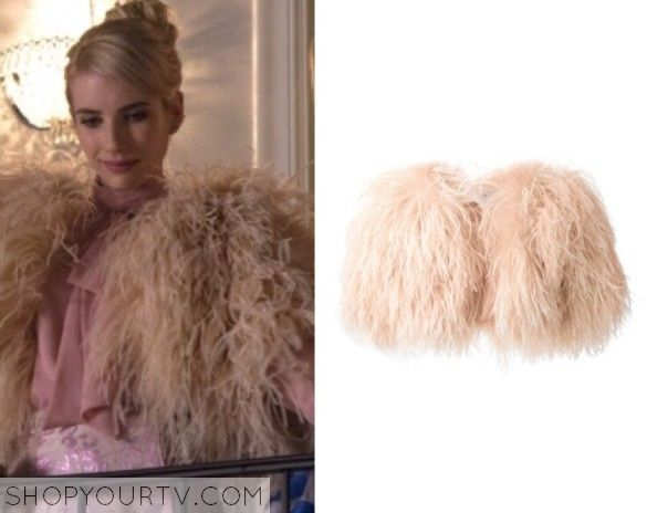 Daisy Shely Ostrich Feather Bolero, from Scream Queens