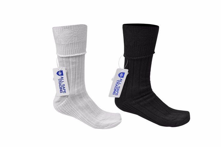 New Scottish Irish Off White/Black Kilt Hose Socks Men Sporrans Flashes #AllSafe #KiltHose
