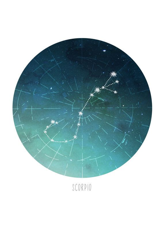Scorpio Constellation Print by HowlDesignMke on Etsy