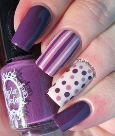 Uñas moradas largas ~ Short Violet Nails