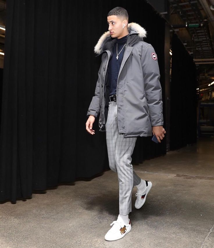 "3,263 Likes, 50 Comments - UpscaleHype (@upscalehype) on Instagram: ""@kuzmakyle wears @canadagoose jacket, @ysl top, @topman trousers, and @gucci sneakers. #upscalehype…"""