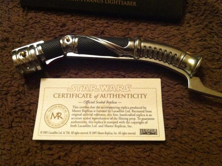 STAR WARS Count Dooku Darth Tyranus Master Replicas LIGHTSABER .45 Scale Chrome