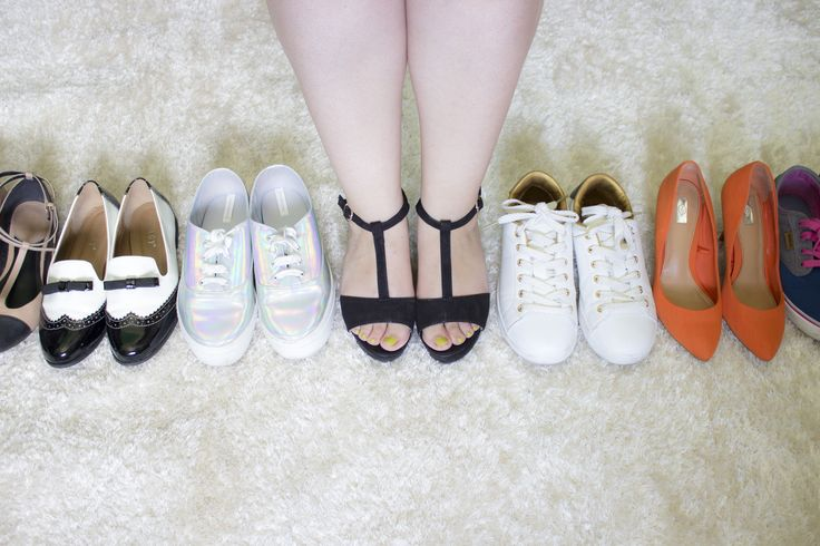 A few pairs of the shoe collection.