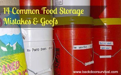 14 Common Food Storage Mistakes & Goofs | Backdoor Survival | #prepbloggers #foodstorage #mistakes