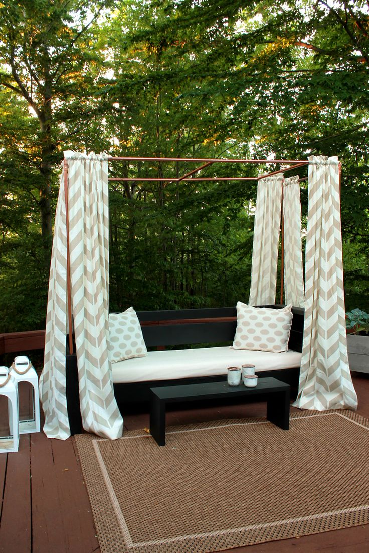 Diy Mini Cabana Made From Copper Pipe Home Depot
