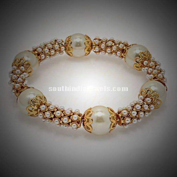 1 gram gold pearl kada bangle