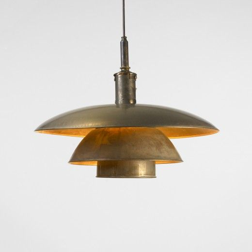 Poul Henningsen, Copper PH 5/5 Lamp for Louis Poulsen, 1929. John's grandfather in Denmark has a nicer version of this fixture and I adore it!!