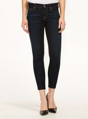 7 For All Mankind Crop Skinny Illusion Classic Dark Jean - from Just Jeans