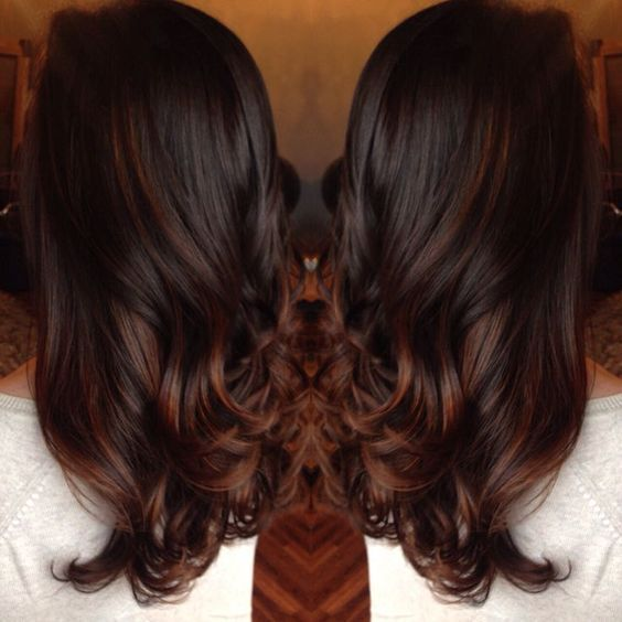 The 25 best red balayage highlights ideas on pinterest dying rich chocolate brown hair with red balayage highlights pmusecretfo Image collections