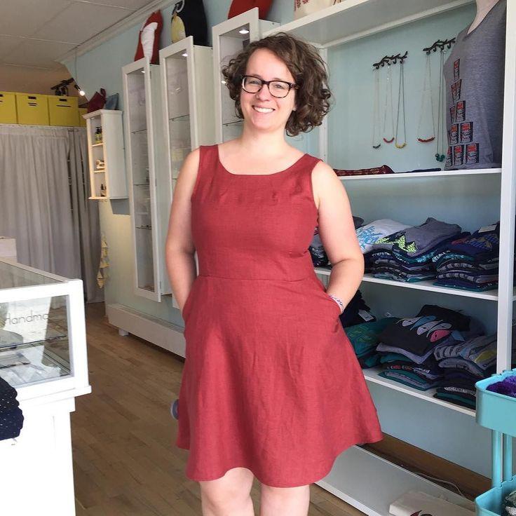 Weve been stocked up on  @atelierbmtl  rust linen dresses- my personal favourite! #shogirl #shoplocal #northdal #madeinmontreal #madewell #modemontreal #handmaid #linen #summerwardrobe #weddingseason #comfyandcute #thatsdarling #thehappynow #flashesofdelight #minimalmode #minimalove