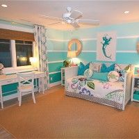 Bedroom. Awesome Themed Teenage Bedrooms With Blue Paint Walls And White Ceiling Fan Also Cozy Beds As Well As Wooden Desk With Chair And Leaf Motive Rugs Ideas. Decorating Bedrooms With Themed Teenage