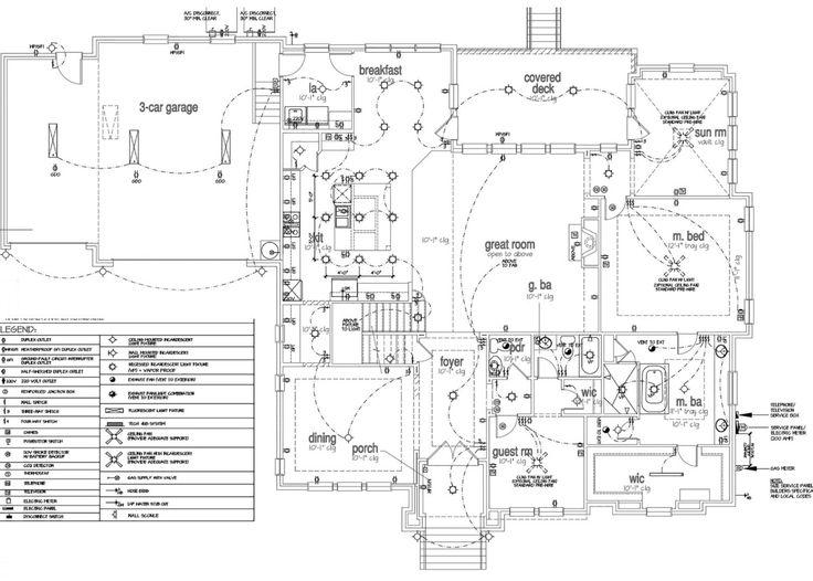 2 storey house electrical plan