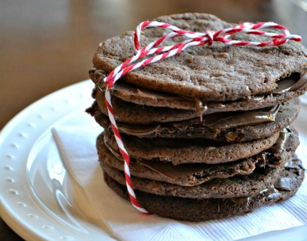 Salted Chocolate Nutella Cookies | OAMC from Once A Month Mom