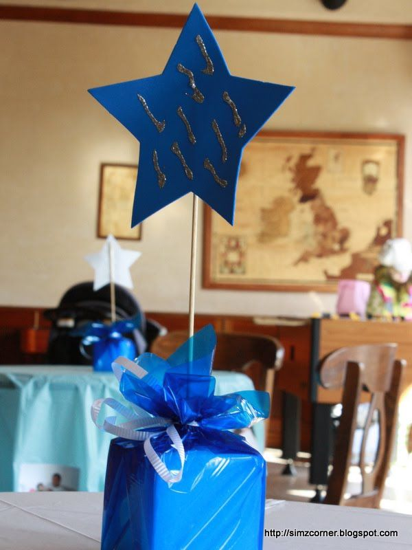 STAR CENTERPIECES   at that time i did some star centerpieces for the tables to match the ...