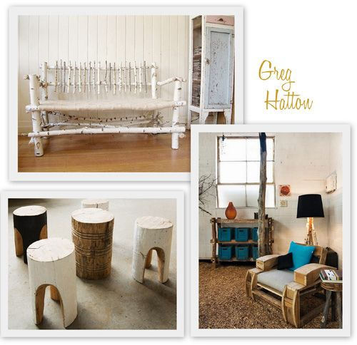 handmade log furniture