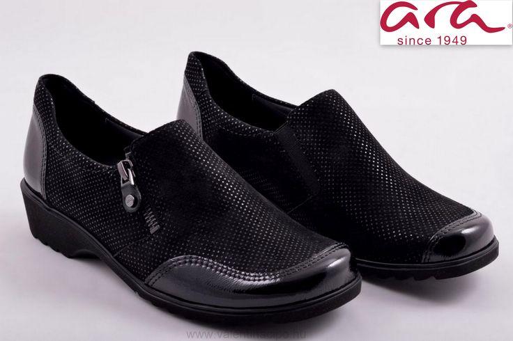Ara női fekete cipő, kivehető talpbetéttel és oldalán cipzárral vásárolható vagy rendelhető webáruházunkból 😉  http://valentinacipo.hu/ara/noi/fekete/zart-felcipo/147609141  #ara #arawebshop #Valentinacipőbolt