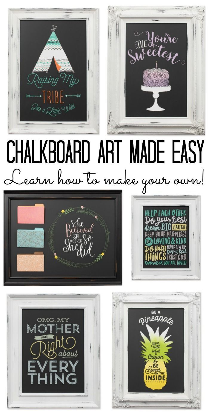 Chalkboard Art An Easy Way To Create Your Own Chalkboard Art Chalk Crafts Chalkboard Projects