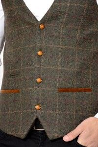 Mens Waistcoat | Designer | Herringbone | Tweed | Check | Len Harrison | Marc Darcy