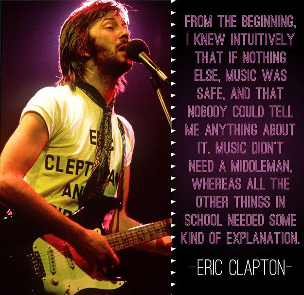 Music Was Safe, It Didn't Need A Middleman music music quotes music sayings famous music quotes music quotes from famous people eric clapton quotes eric clapton