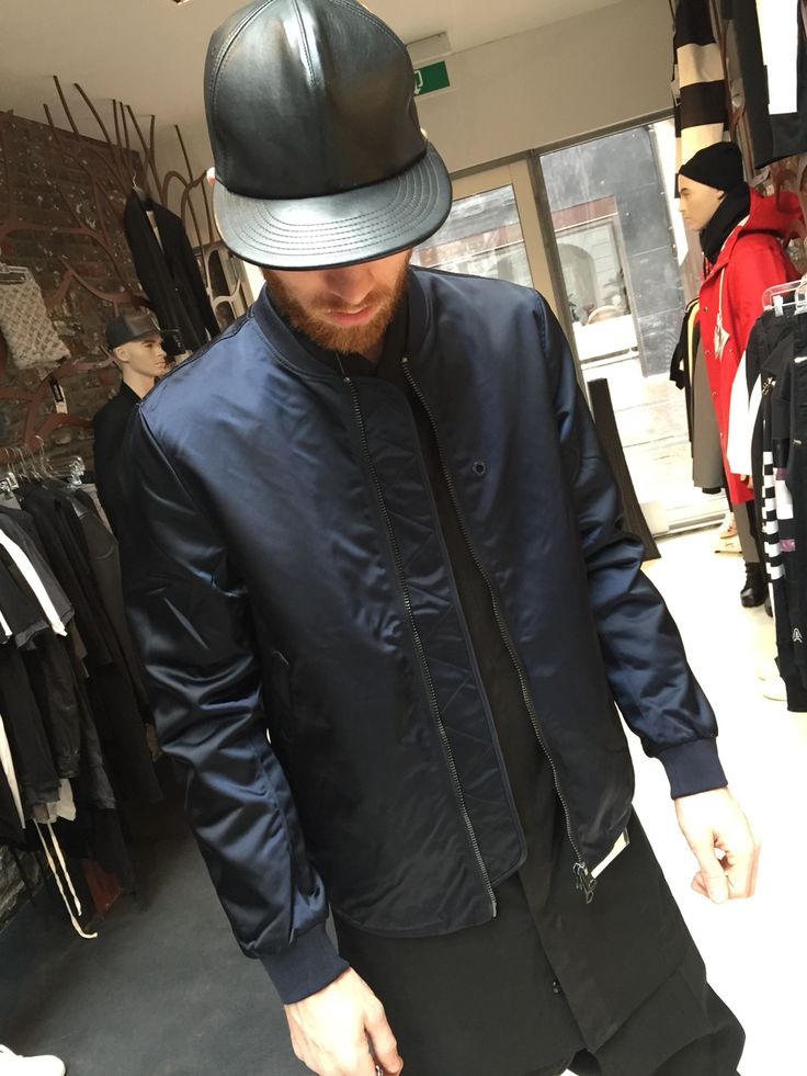 Timo in the amazing bomber by Acnestudios @labelsfashion
