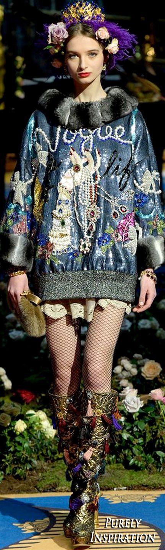 Dolce & Gabbana Alta Moda Collection FW2017   Purely Inspiration
