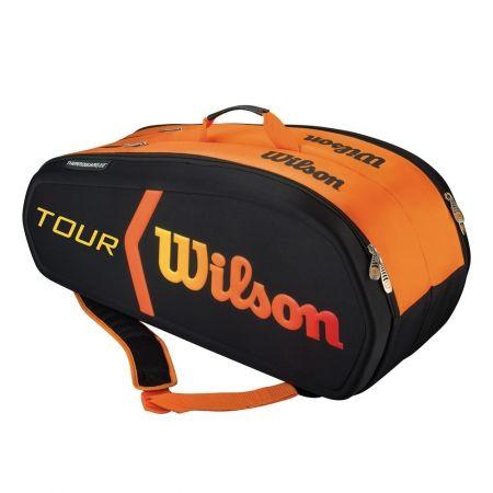 NEW ! Tennis Bag Wilson Tour Molded Burn 9 Bag - Black/Orange