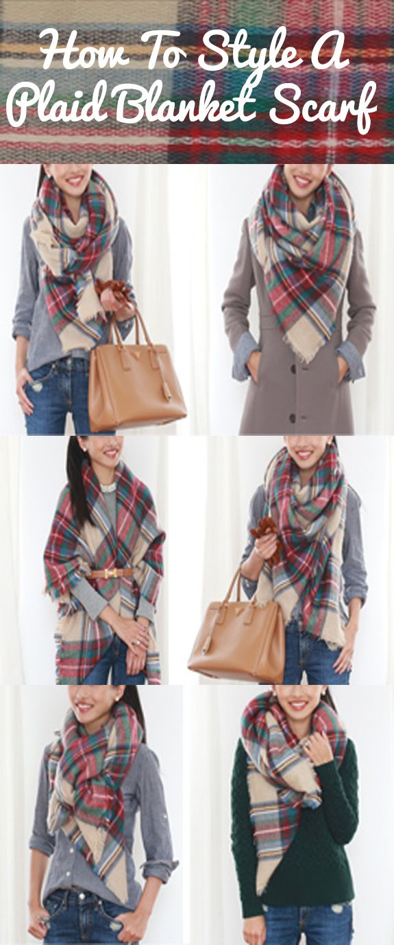 How to style a plaid blanket scarf!