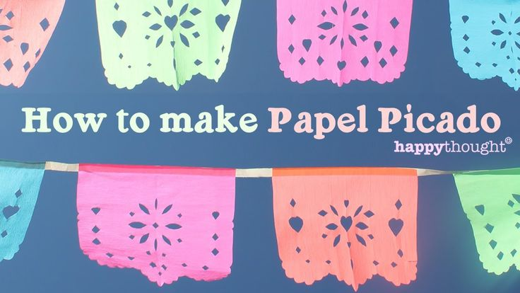 Guirnaldas de papel de china | How to make Papel Picado for Day of the Dead