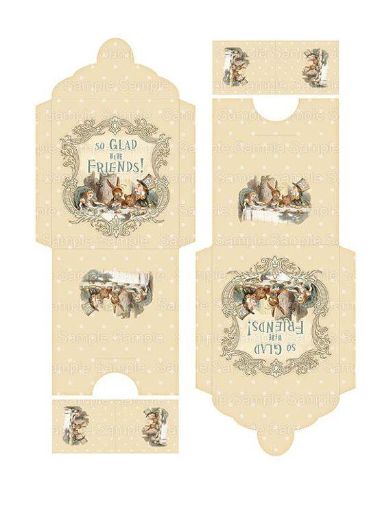 Printable Tea Bag Envelope Printable Alice In Wonderland So Glad