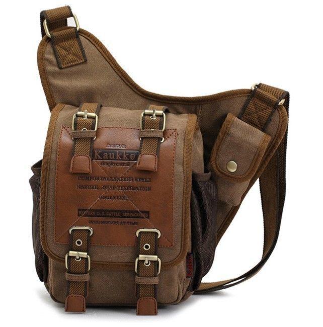 KAUKKO Sling Bag Vintage Messenger Crossbody Retro Style FH03 5L Male  #Kaukko