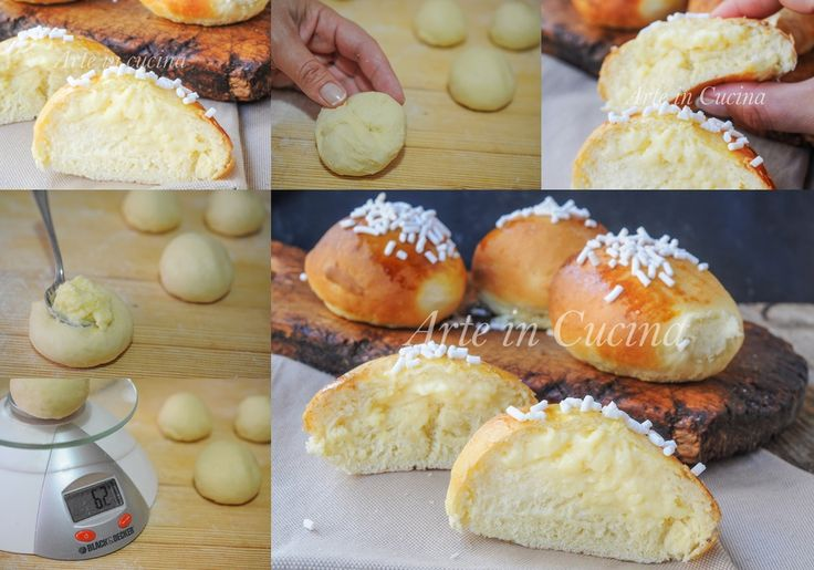 Brioche alla crema pasticcera soffici e facili vickyart arte in cucina