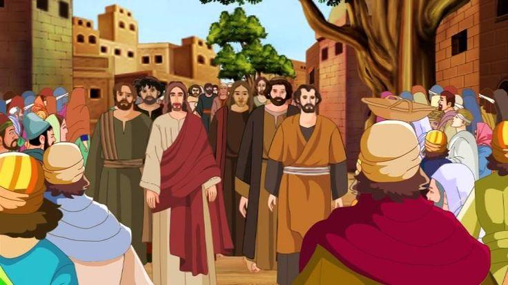 Bible stories for kids - Zacchaeus ( Jesus Cartoon Animation in English )