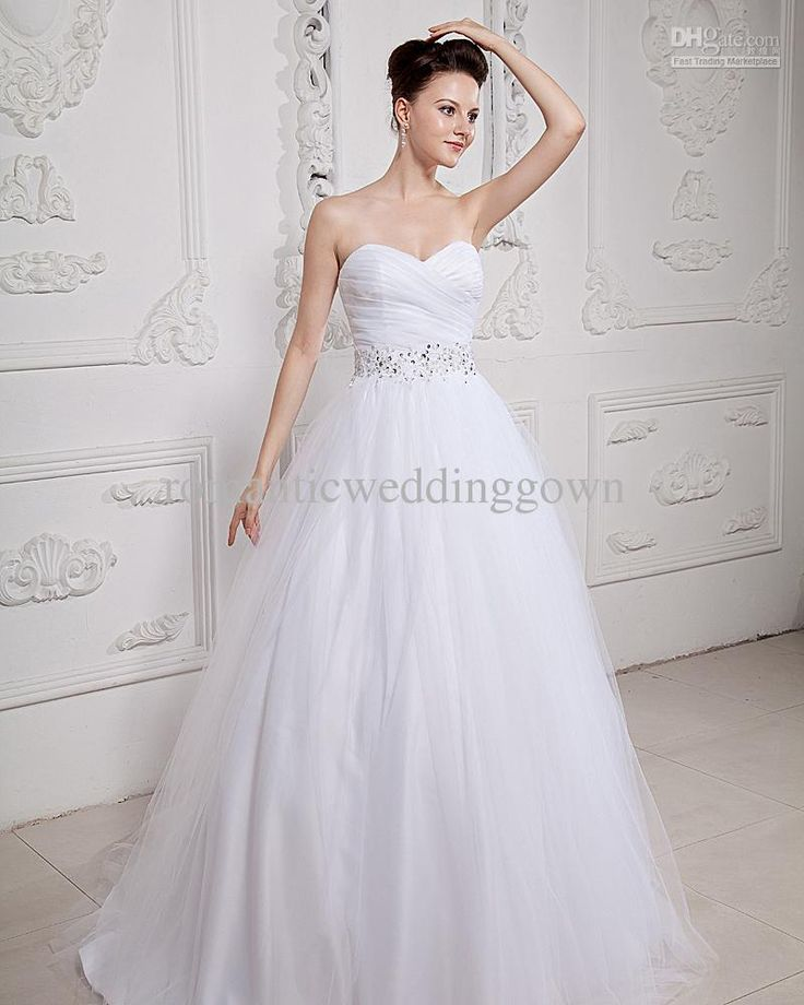 Custom Made Organza Applique Sweetheart Beading Chapel Ball Gown Wedding Dress Dresses Factory Wholesale Price