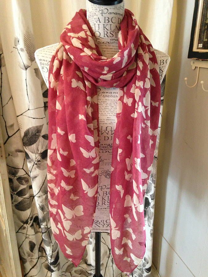 silhouette butterfly scarf by french grey interiors | notonthehighstreet.com