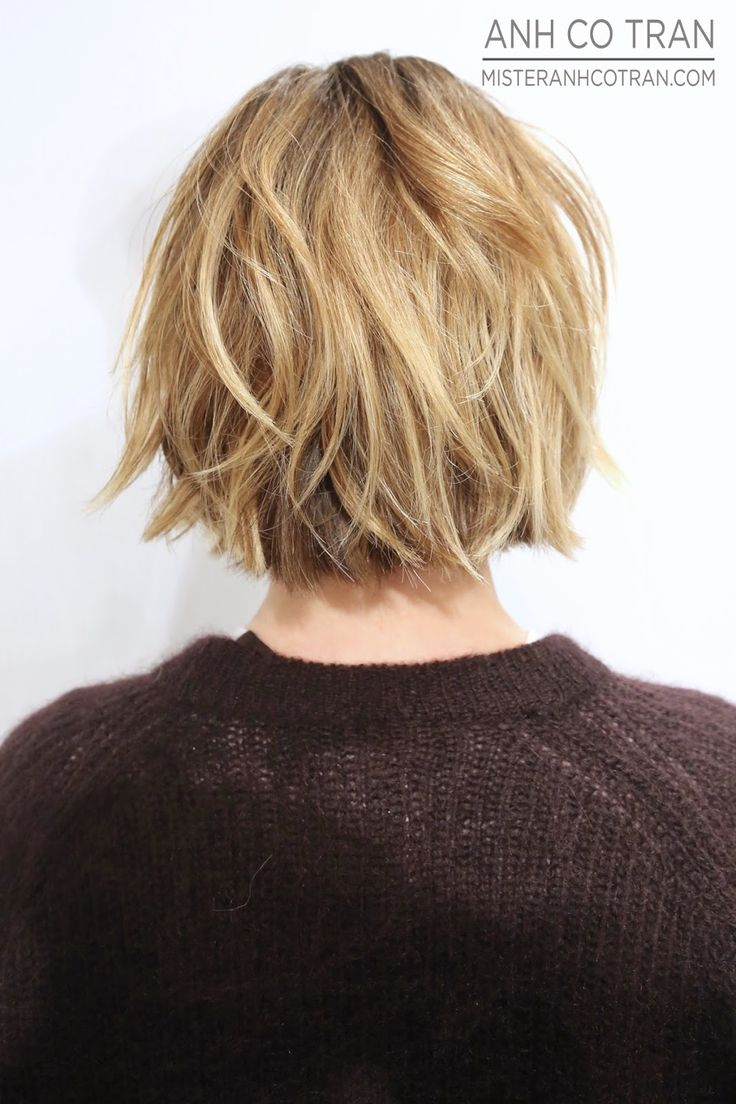 Anh Co Tran - short dirty blonde bob