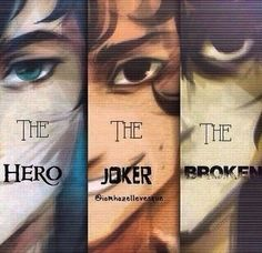 Percy Jackson, leo valdez and Nico di angelo OMG. Except Leo and nico are both kind of broken