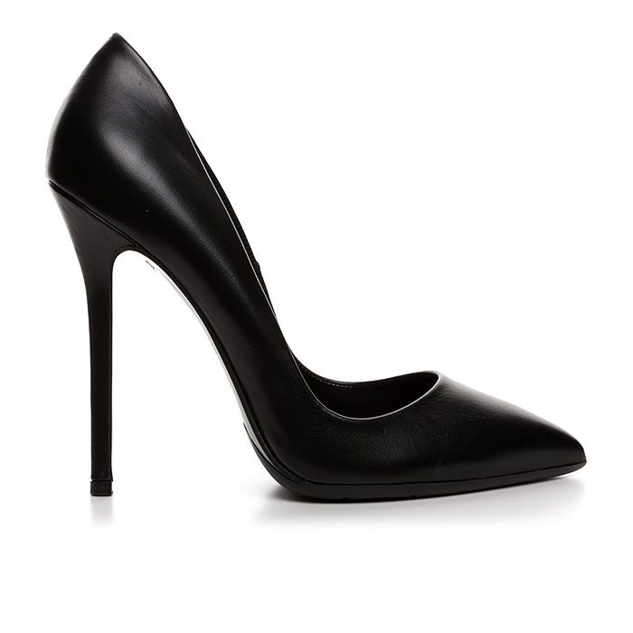 1203A00_BLACK LEATHER www.mourtzi.com #blackpumps #heels #pumps #classy