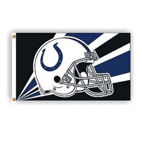 "3' X 5'   Indianapolis Colts Flag with Helmet Design $29.99 Delivered Show some true Colts team pride with a traditional 3' x 5' Indianapolis Colts flag from CVS Flags. The quality and the 36"" x 60"" size of this team flag will let the whole neighborhood know which team you support.So go ahead and make it game time all the time by ordering your Indianapolis Colts Flag today."