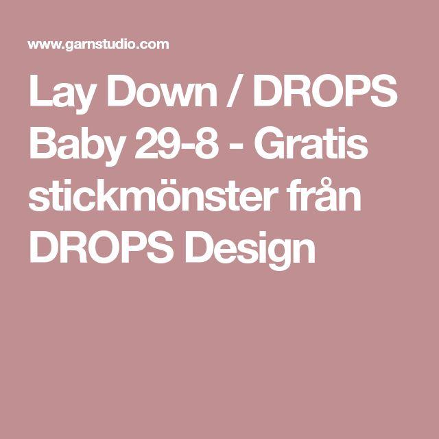 Lay Down / DROPS Baby 29-8 - Gratis stickmönster från DROPS Design