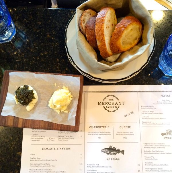 The Merchant Tavern bread butter where to eat downtown st. john's newfoundland