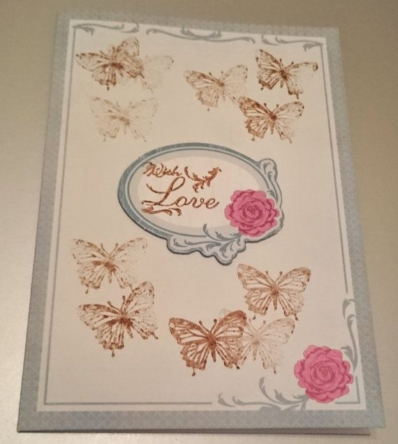 Handmade C6 Greeting Card  With Love by BavsCrafts on Etsy