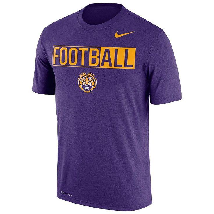 Men's Nike LSU Tigers Dri-FIT Football Tee, Size: