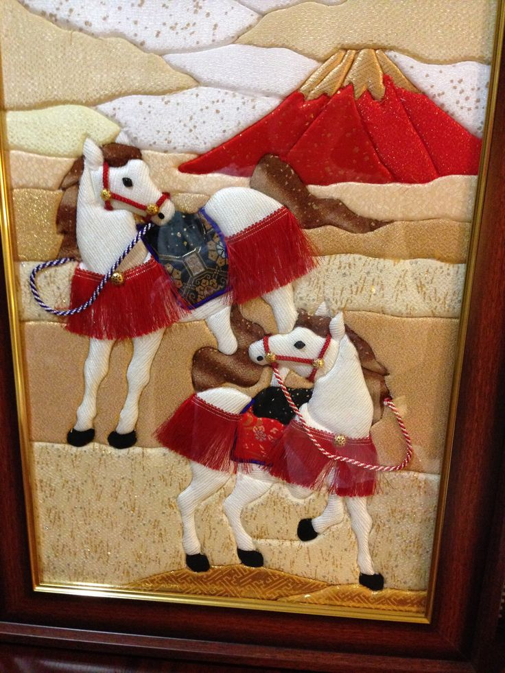 Year of the Horse cloth art (2014)