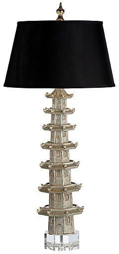 JONATHAN CHARLES/WILDWOOD LAMPS Suzhou Table Lamp - Antiqued Silver